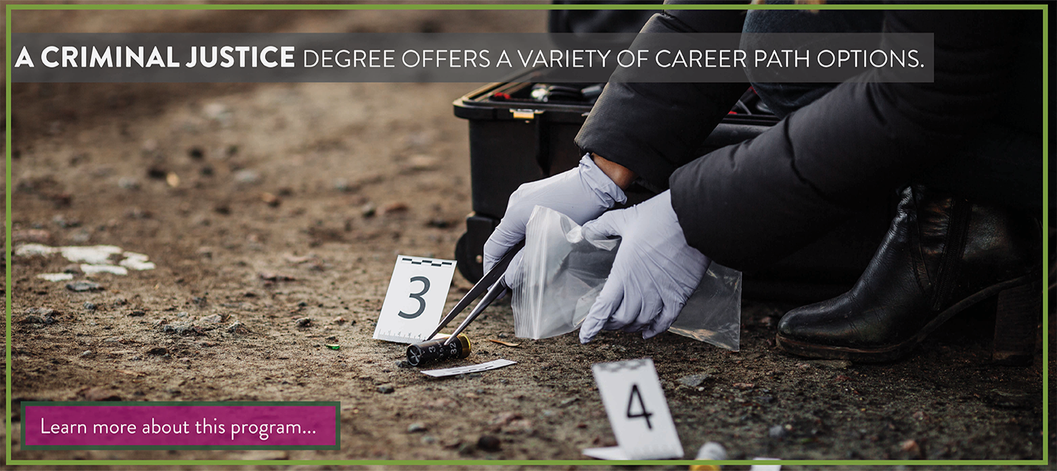 A criminal justice degree offers a variety of career path options.