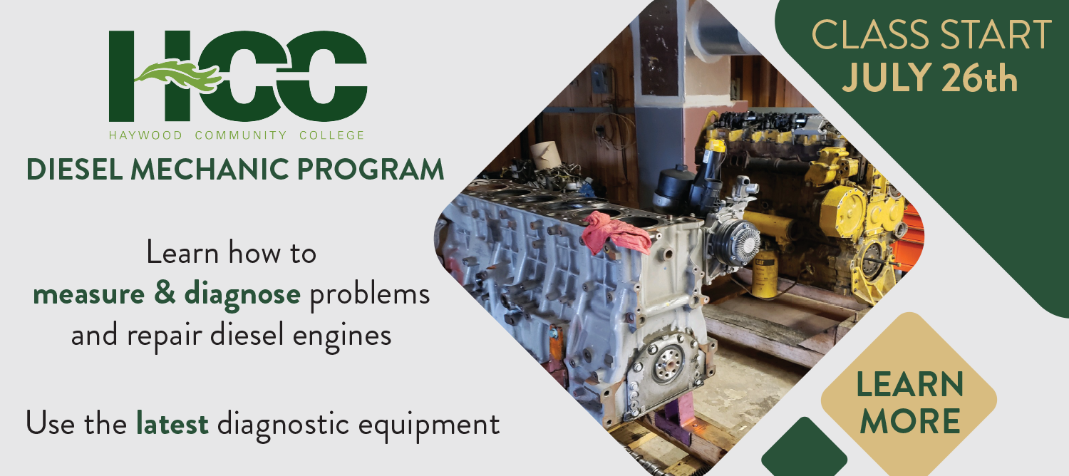 Diesel Mechanic Program. Learn how to measure and diagnose problems and repair diesel engines. Use the latest diagnostic equipment. Class Starts July 26th.