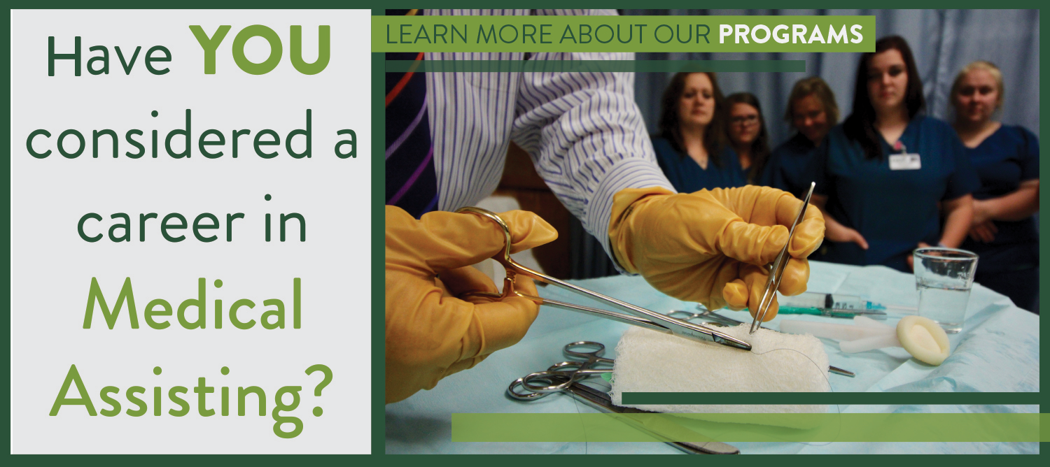 Have you considered a career in medical assisting? Learn more about our programs.